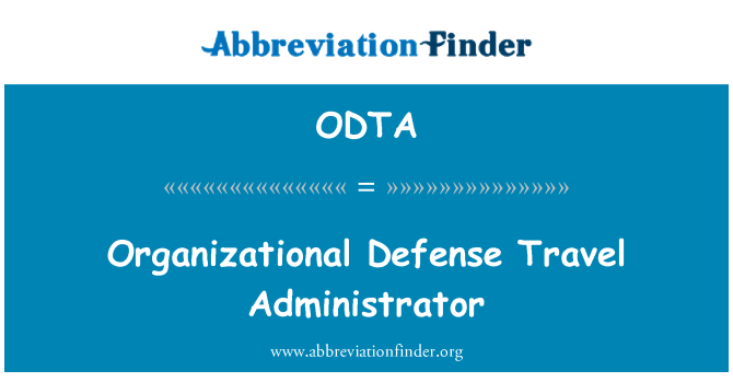 ODTA: Organizational Defense Travel Administrator