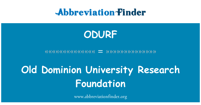 ODURF: Old Dominion University Research Foundation