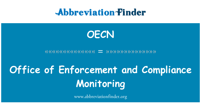 OECN: Office of Enforcement and Compliance Monitoring