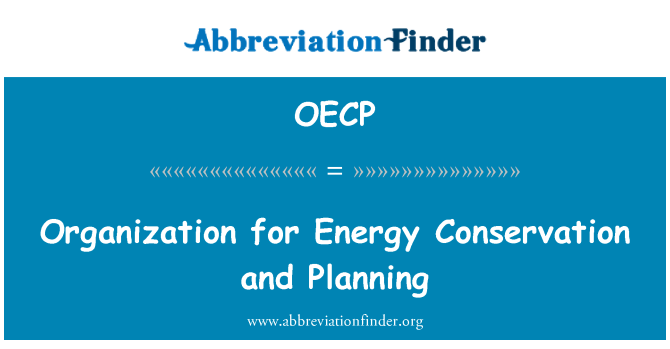 OECP: Organization for Energy Conservation and Planning