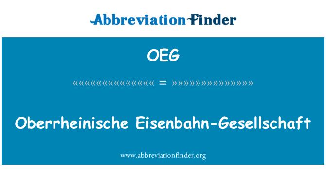 OEG: Oberrheinische Eisenbahn-Gesellschaft