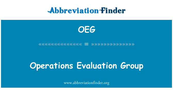 OEG: Operations Evaluation Group