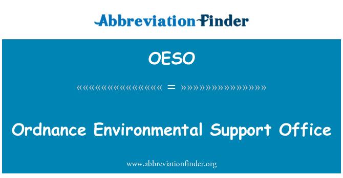 OESO: Mühimmat çevre destek ofisi