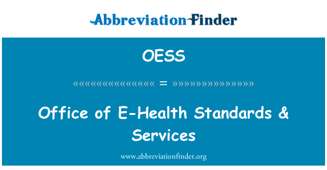 OESS: Oficina de estándares de E-Health & servicios