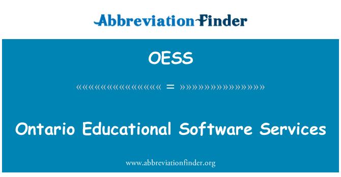 OESS: Servicios de Software educativo de Ontario