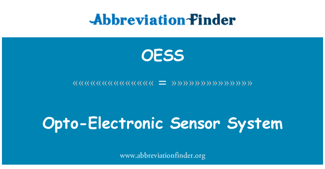 OESS: Opto-Electronic Sensor System