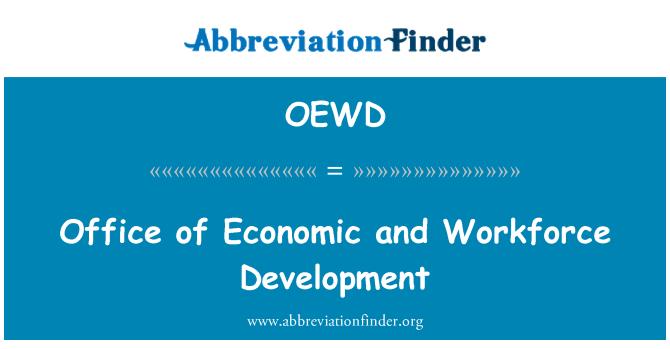 OEWD: La oficina de economía y desarrollo laboral