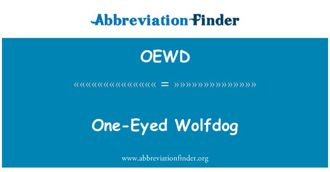 OEWD: Perro lobo tuerto