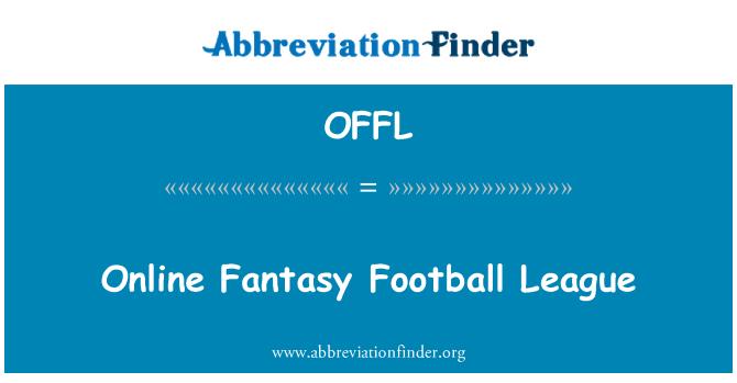 OFFL: Liga de fútbol de fantasía en línea