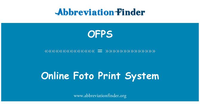 OFPS: Online Foto Print System