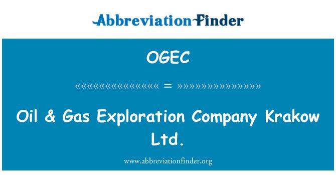 OGEC: Aceite & Gas Exploration Company Ltd. de Cracovia