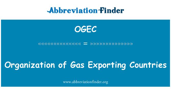 OGEC: Organización de países exportadores de Gas