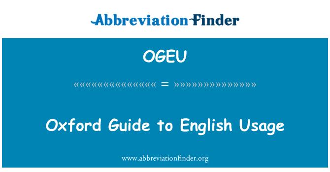 OGEU: Oxford vodič na engleskom jeziku