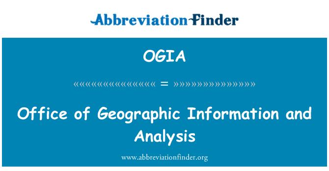 OGIA: Ured geografskih informacija i analiza