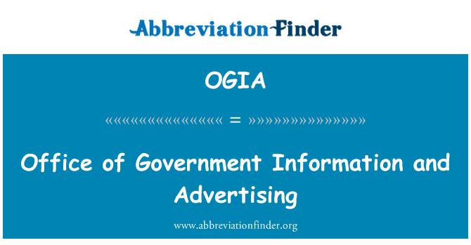 OGIA: Ured za državne informacije i oglašavanje