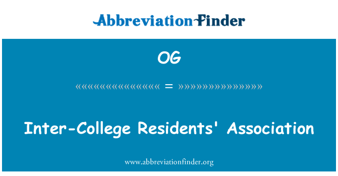 OG: Inter-College Residents' Association