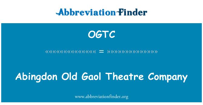 OGTC: Abingdon Old Gaol Theatre Company