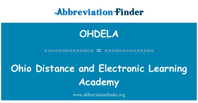 OHDELA: Ohio Distance and Electronic Learning Academy