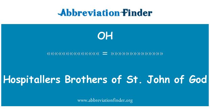 OH: Jaani Jumala Hospitallers vennad