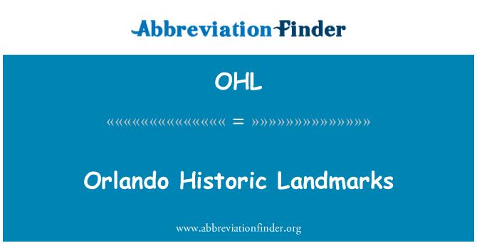OHL: Orlando ajaloolised vaatamisväärsused