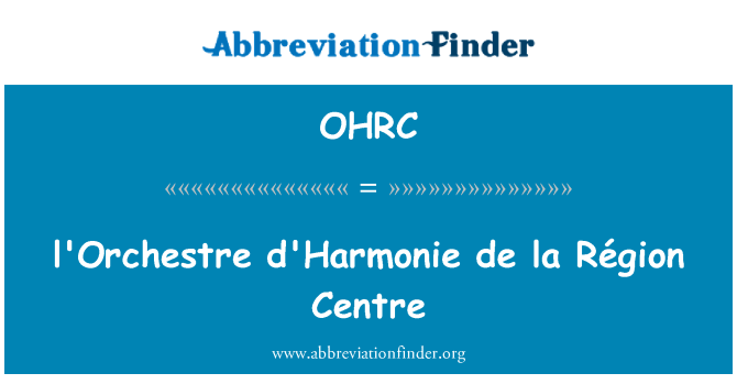 OHRC: l'Orchestre d'Harmonie de la odnosu centar