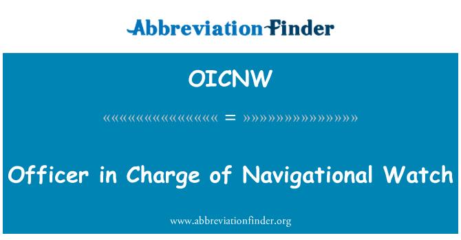 OICNW: Důstojník strážní navigační služby