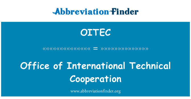 OITEC: Office of International Technical Cooperation