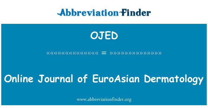 OJED: 欧亚皮肤病学在线杂志