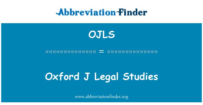 OJLS: Oxford J Legal Studies