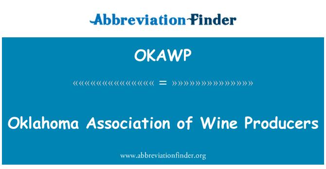 OKAWP: Oklahoma Association of Wine Producers