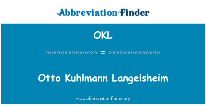 OKL: Otto Kuhlmann Langelsheim