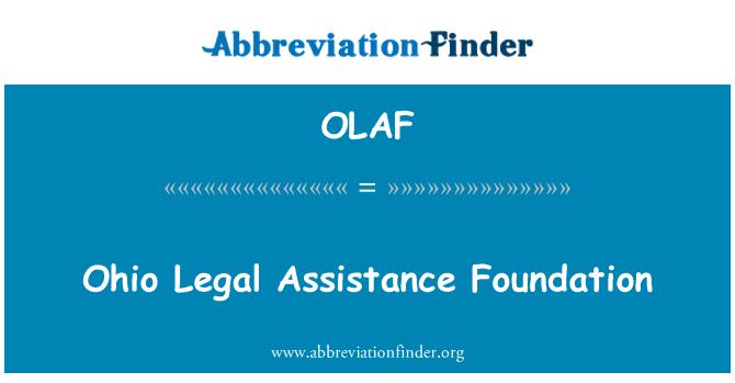 OLAF: Ohio adli Yardımlaşma Vakfı
