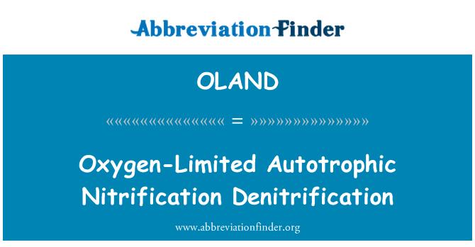OLAND: Oxygen-Limited Autotrophic Nitrification Denitrification