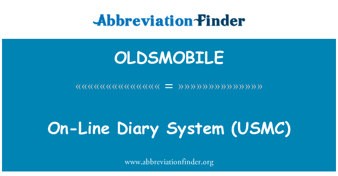 OLDSMOBILE: آن لائن ڈائری نظام (یوسمک)