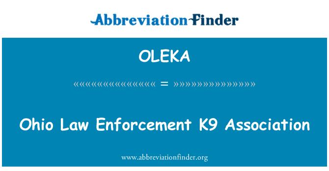 OLEKA: Ohio Law Enforcement K9 Association