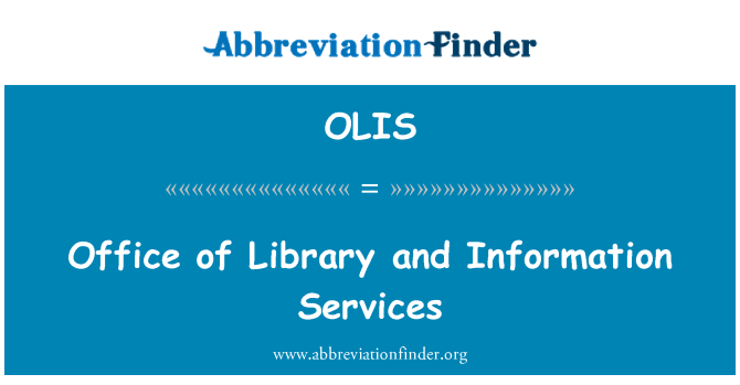 OLIS: لائبریری اور انفارمیشن سروسز کا دفتر
