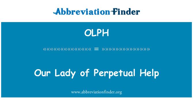 OLPH: Nuestra Señora del Perpetuo Socorro