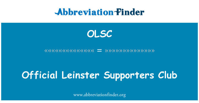 OLSC: Official Leinster Supporters Club