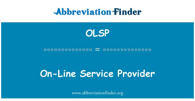 OLSP: On-Line hizmet sağlayıcısı