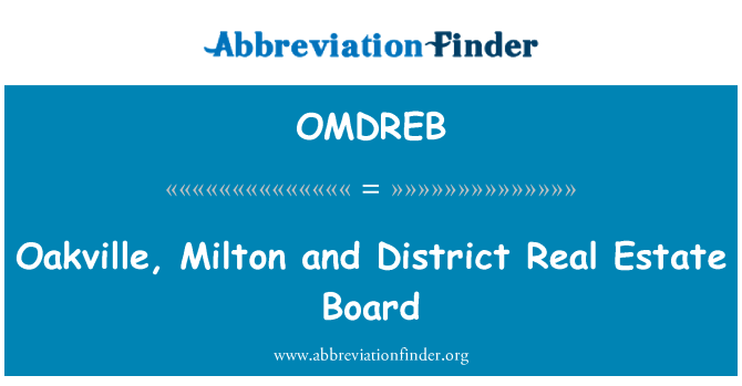 OMDREB: Oakville, Milton and District Real Estate Board