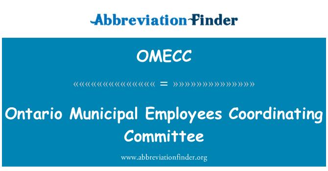 OMECC: Ontario Municipal Employees Coordinating Committee