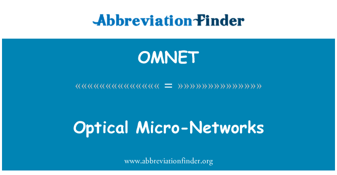 OMNET: Optical Micro-Networks