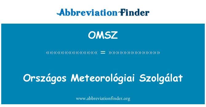 OMSZ: Országos Meteorológiai Szolgálat