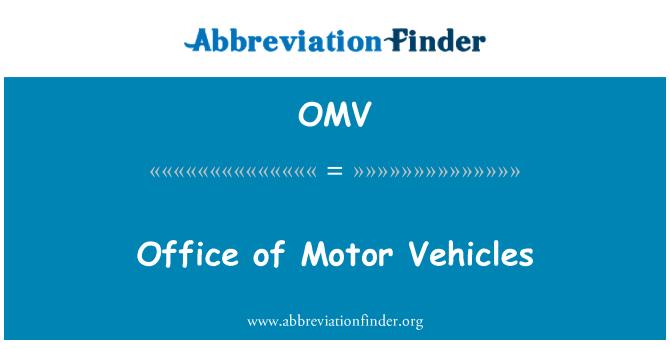 OMV: Motorlu Taşıtlar Dairesi
