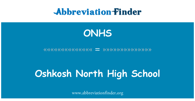 ONHS: Oshkosh North High School