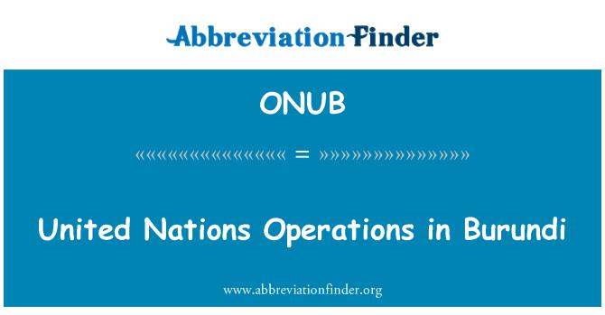ONUB: United Nations Operations in Burundi