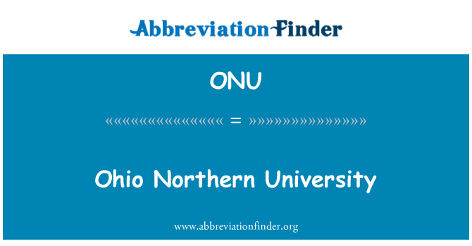 ONU: Ohio Northern University