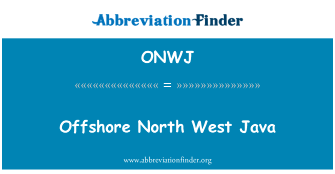 ONWJ: Offshore North West Java