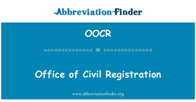 OOCR: Office of Civil Registration