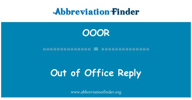 OOOR: De respuesta de la oficina